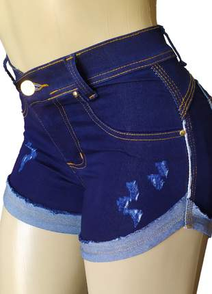 Short cintura alta hot pants com lycra