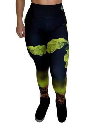 Calça legging fitness | hidratação aloe vera | elemento terra