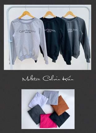 Kit 10 blusas moleton cores e estampas variadas