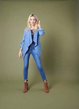 Blazer jeans lapela