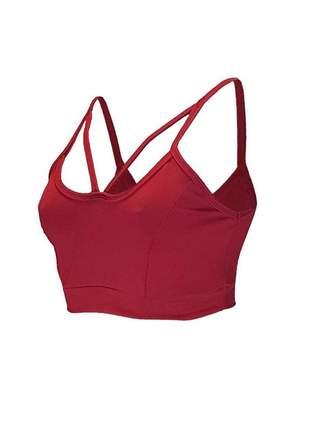 Top fitness faixa dupla alça feminino suplex sem bojo cores lisas