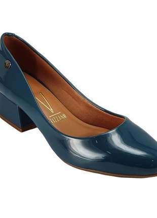 Sapato feminino scarpin salto baixo vizzano 1346 azul