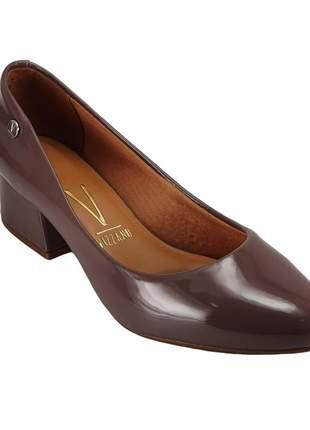 Sapato feminino scarpin salto baixo vizzano 1346 cinza