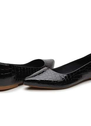 Sapatilha sapato social preto escamada