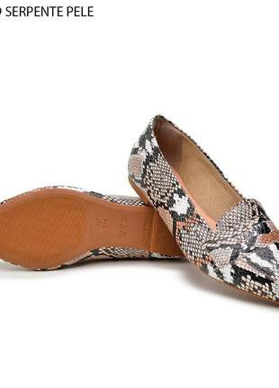 Sapatilha sapato bico fino de cobra lançamento