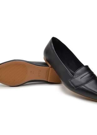 Sapato sapatilha social confortavel bico fino