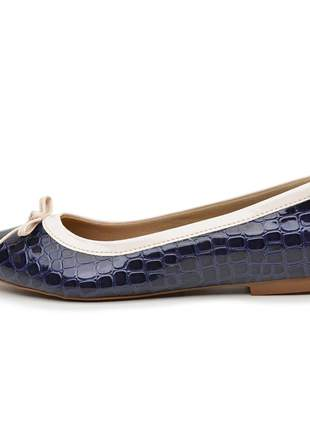 Sapatilha sapato social lançamento azul escuro escamada