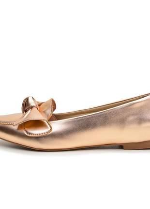 Sapato sapatilha bronze metalizada tendencia 2020