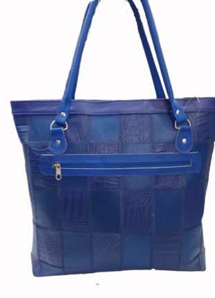 Bolsa grande em retalhos de couro patchwork direto do fabricante feita artesanalmente