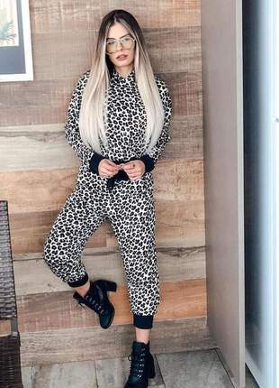 Conjunto metalasse animal print
