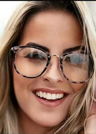 Óculos tendência nova moderna sem grau feminino