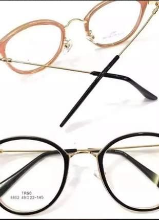 Armação feminino óculos oluxo redondo vitage original (de grau)
