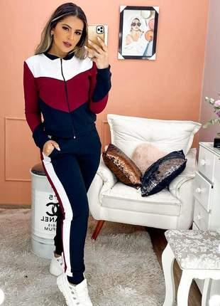 Casaco plus size e calça comprida moda inverno calça e casaco feminino