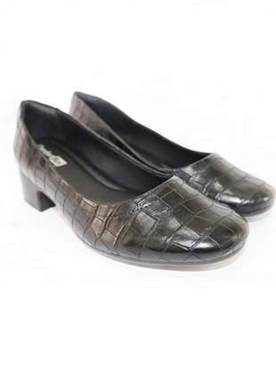 Sapato mocassim salto baixo renata della vecchia