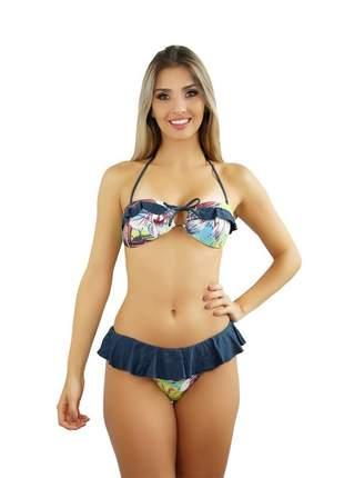 Biquíni feminino modelo andros clump estampado