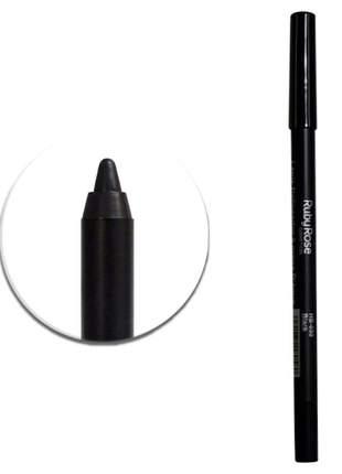 Lápis delineador carbon black à prova d`água ruby rose - hb050