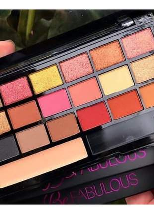 Paleta de sombras ruby rose 18 cores be fabulous hb-9931