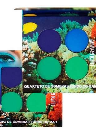 Quarteto de sombras fundo do mar ludurana make up m00071