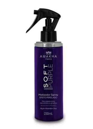 Matizador spray soft purple - efeito perolado - 230 ml