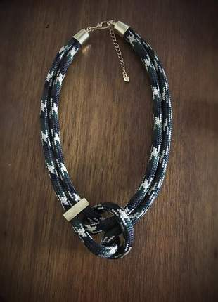 Colar de corda camuflado 🤩