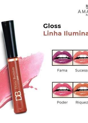 Gloss labial - linha iluminada 7ml amakha paris