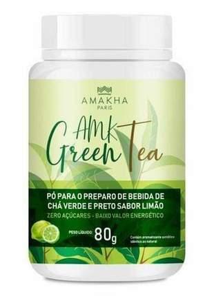 Amk green tea - 80g zero açúcares e baixo valor energético.