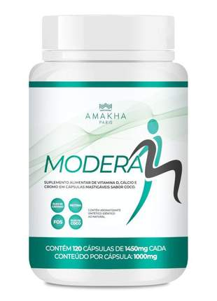 Modera - 120 cápsulas suplemento alimentar amakha paris