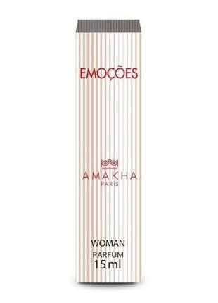 Perfume feminino de bolso emoções 15 ml amakha paris parfum