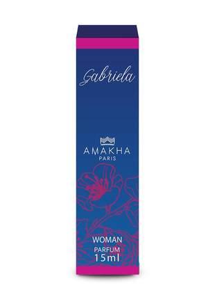 Perfume feminino de bolso gabriela 15 ml amakha paris parfum
