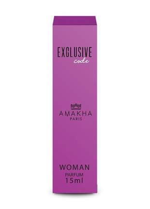 Perfume feminino exclusive code 15 ml amakha paris - parfum