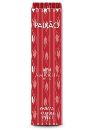 Perfume feminino de bolso paixão 15 ml amakha paris - parfum