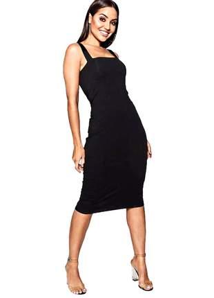 Vestido feminino midi tubinho com alcinha super charmoso pronta entrega