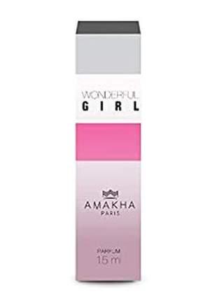 Perfume feminino amakha paris woman wonderful girl 15ml