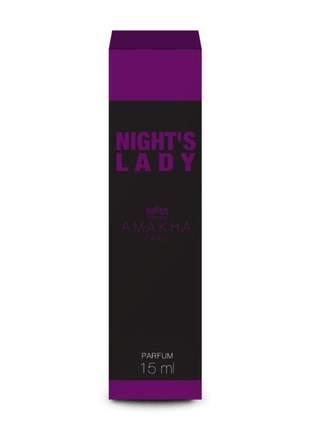 Perfume feminino nights lady amakha paris 15ml - parfum