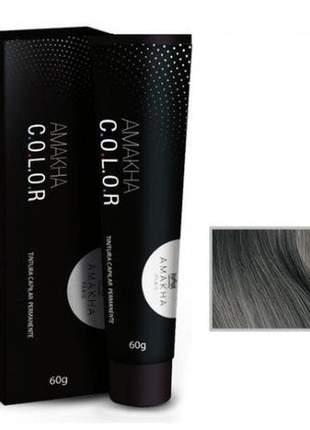 Tintura capilar amakha color 60g - matizador cinza