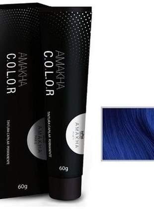 Tintura capilar amakha color 60g - azul 0.8 amakha paris