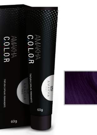 Tintura capilar amakha color 60g - violeta 0.2 amakha paris