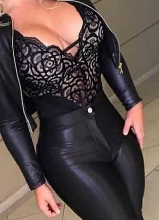 Body rendado feminino decote rendado lindo