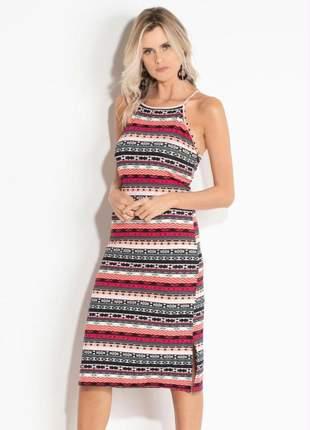 Vestido étnico tubinho