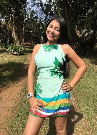 Vestido feminino curto estampado verão modinha vestidinho