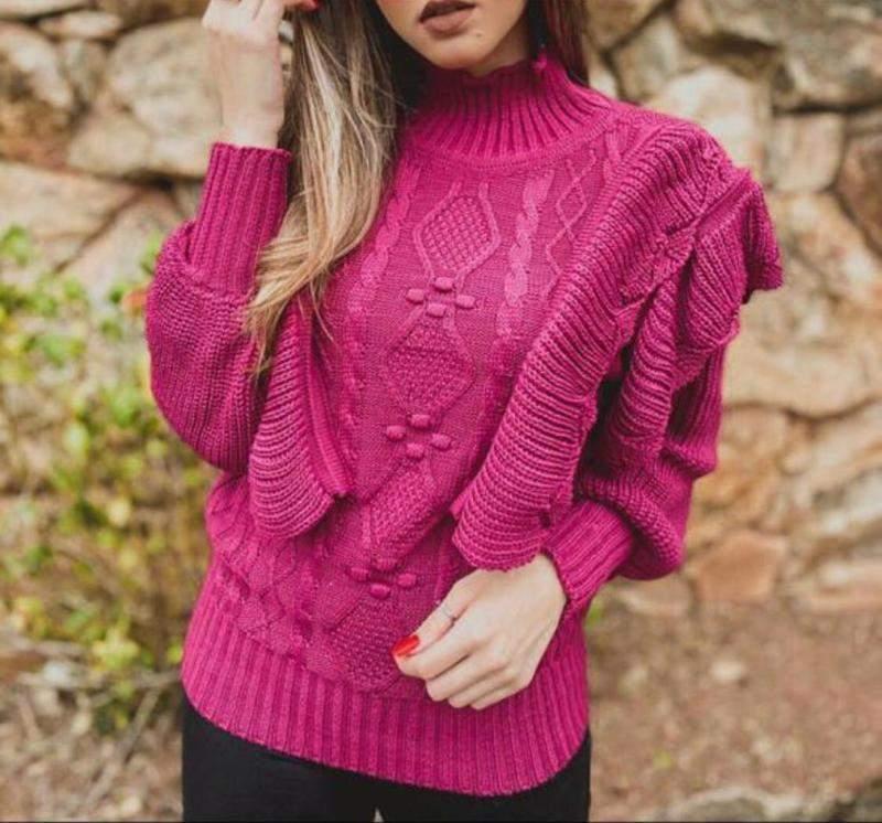 Danada de  Chic / Blusa tricot babado