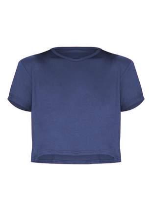Cropped t-shirt manga curta