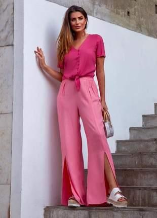 Black apreciar moda _ calça fenda