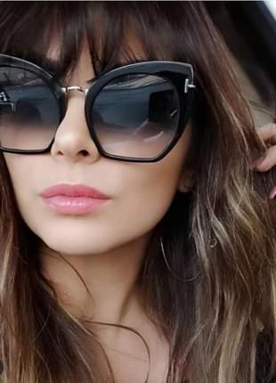 Óculos de sol feminino - proteção uv400 - acompanha saquinho luxo + flanela