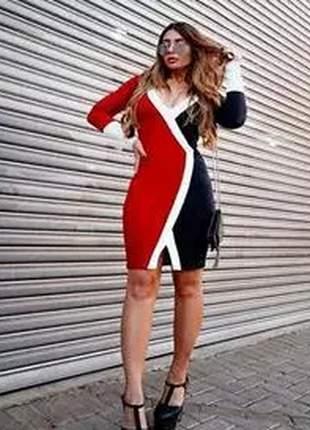 Vestido de malha grossa, mangas longas e caimento ajustado