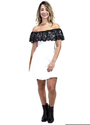 Vestido feminino renda ombro a ombro super crarmoso pronta entrega
