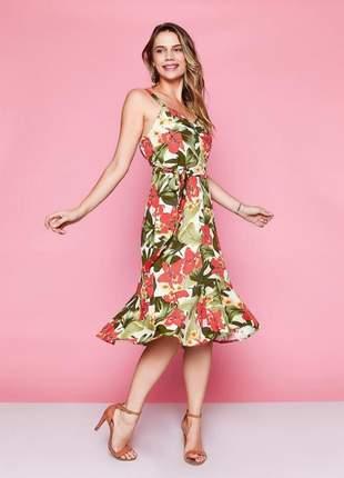 Vestido feminino midi