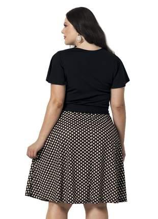 Vestido godê plus size  moda evangélica feminino bolinhas