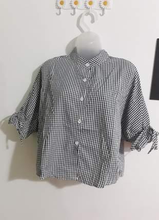 Cropped camisa  listrado