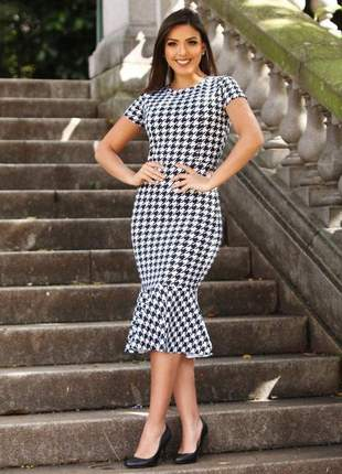 Vestido tubinho babado evangélico moda feminina promoção moda blogueira